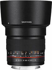 Nouveau Samyang 85mm F/1.4 Umc If Objectif pour Sony E & Fe Support - Garantie 3