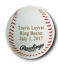 Custom Personalized Synthetic Leather Baseball Wedding Gift Your Message Engrave