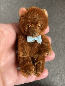 """Antique Vintage Mohair German Bear Baby 3"""" Limb Jointed So Cute Excellent No Res"""