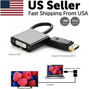 NEW DisplayPort DP Male To DVI Female Adapter Cable Converter For Laptop PC USA