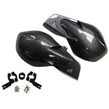 "Pair 7/8"" 22mm Dirt Bike ATV Motorcycle Brush Bar Hand Guards Handguard Carbon"