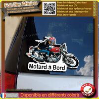 Stickers Autocollant motard à bord moto vintage café racer biker decal