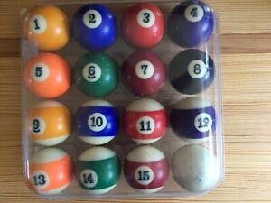 "Vintage Billiard Pool Balls 2 1/4"" NICE PRE OWNED SET"