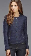Brand New - Juicy Couture Lurex Boucle Jacket Navy UK Size 4 (RRP £245)