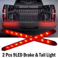 "2PC 17"" 9 LED Red Sealed Trailer Truck RV Stop Tail Rear Brake Turn Light Bar"