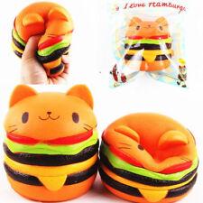 Jumbo Squishy Cute Hamburger Cat Slow Rising Cartoon Scented Bread Soft Fun Toy
