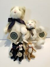 Boyds Bears Archive Collection T F Wuzzies Bear Cat Bunny lot of 5 All With Tags