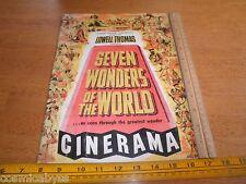 Seven Wonders of the World Movie program book Vintage