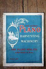 1901 Light Running Plano Harvesting Machinery Catalog, The Plano Mfg Co, Chicago