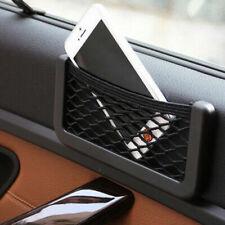 Auto Car Black Pocket Items Stored Storage Net String Pouch Bag Phone Holder