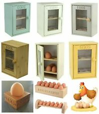 EGG HOLDER CUPBOARD CABINET KITCHEN STORAGE WOODEN EGG RACK 2 TIER 12 EGGs BOX