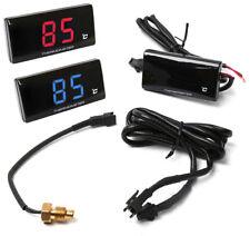 12V Digital ATV Motorrad Kühlwasser Temperaturanzeige Thermometer Sensor Rot LCD