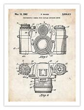 VINTAGE 35MM CAMERA INVENTION POSTER 1962 US PATENT PRINT 18X24 SAUER PHOTOGR...