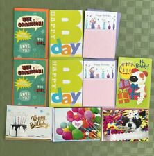 Hallmark American Greeting Other Birthday New Lot 10 Cards Envelopes AsstDesigns