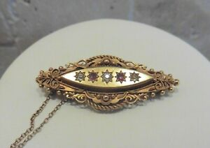 A Stunning Antique 15ct Diamond And Ruby Brooch