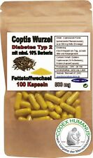 100 Kapseln 500 mg Coptis Wurzel. Berberin. DIABETES TYP 2. KREBS. HERZRHYTHMUS
