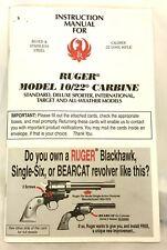 Ruger 10/22 Carbine Instruction Manual