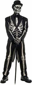 Underwraps Men's Costumes Bone Chillin Skeleton Costume, Black, Size 14.0 3Zfj