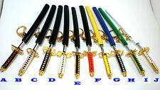Anime Bleach Samurai Sword Mini Model Keyring Key Chain Manga Cartoon Cosplay