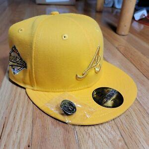 Hat Club Atlanta Braves Gold Olympics World Series Sz 7 1/8