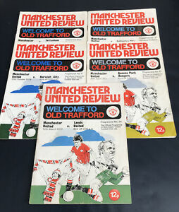 Manchester United Review Programs : Nos: 3,9,26,30,31, / 1976/77