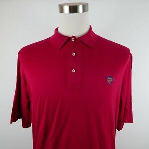 Polo Golf Ralph Lauren Mens Cotton Short Sleeve Solid Red Polo Shirt Medium