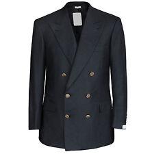 BRIONI $4700 navy blue double breasted wool Aurelio blazer jacket 40/50 S NEW