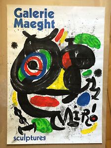 Original Galerie Maeght Miro Sculpture Gallery Poster