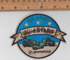 US Army JOINT STARS OVERWATCH MOTOROLA ENGINEERING JACKET PATCH FABRIC