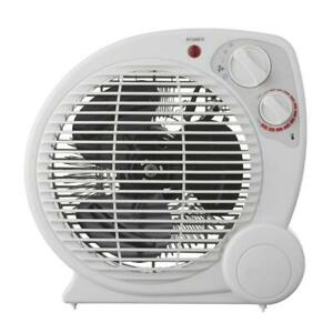 Portable Heater 1500-Watt Electric Fan Forced W Adjustable Thermostat Protection