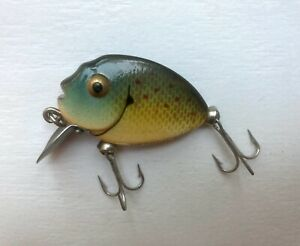 Vintage Heddon Tiny Pumpkinseed Fishing Lure
