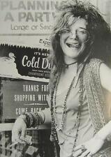 Janis Joplin POSTER Little Blue Girl