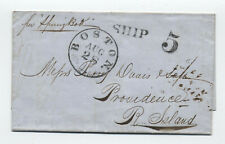 1856 Boston Ship 5 stampless Cape Town to Providence [45.76]
