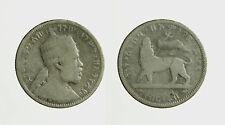 s591_10) MENELIK 1/4 Birr 1889 A  Etiopia - Ethiopia  Silver