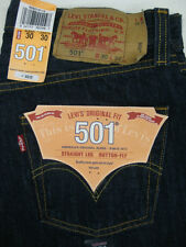 501 LEVI'S JEANS MENS NWT 501-0115 INDIGO BLUE PRESHRUNK *ALL SIZES AVAILABLE*
