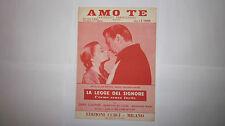 D. TIOMKIN AMO TE TESTO ITALIANO DEVILLI SPARTITO FILM LA LEGGE DEL SIGNORE 1957