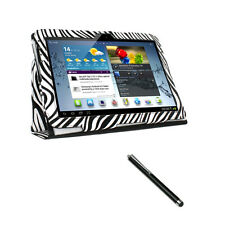 Zebra Case Cover Portfolio Leather For Samsung Galaxy Note 10.1 N8000 (2012)