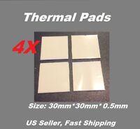 4x Thermal Conductive Compound Pad For Heatsink Chip CPU 30mmx30mmx0.5mm/pcs