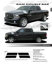 DOUBLE BAR Graphics Emblems Stripes Decal EE2127 For: RAM 2009-2019
