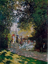 Claude Monet•PARISIANS IN THE PARC MONCEAUX Impressionism Poster•16x20 Art Print