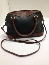 liz claiborne purse Dark Green and Brown Leather with Shoulder Strap