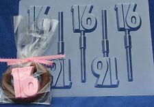 """16"" SWEET SIXTEEN LOLLIPOP DIY CHOCOLATE CANDY MOLD PARTY FAVOR FAVOR BIRTHDAY"