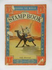 Vintage 1935 Around the World Stamp Book Fully Illustrated