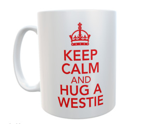 Westie Mug Keep Calm And Hug A Novelty Retro Cute Cup Dog Owner Gift Present