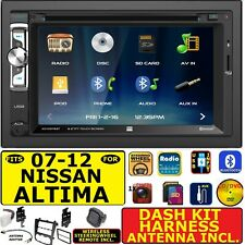 FITS 2007-2012 NISSAN ALTIMA CD/DVD BLUETOOTH USB SD AUX CAR STEREO PACKAGE