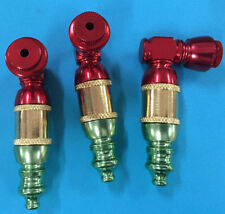 ((((set Of 3 PCS )))ANODIZED metal pipes for tobacco