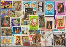 CHRISTMAS on Stamps World wide 100 Different - Mostly Large & Used.