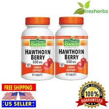 HAWTHORN BERRY 500mg BLOOD FLOW HEART CARDIO HEALTH HERBAL SUPPLEMENT 180 TABLET