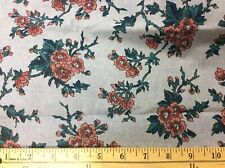 Light Denim Colored Cotton With Rose Flowers-60 Wide- 1/2 Yard