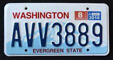 "WASHINGTON "" EVERGREEN STATE - MOUNT RAINIER AVV 3889 "" WA Graphic License Plate"